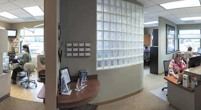 Interior of  Eastside Dental Clinic, in Troutdale, OR