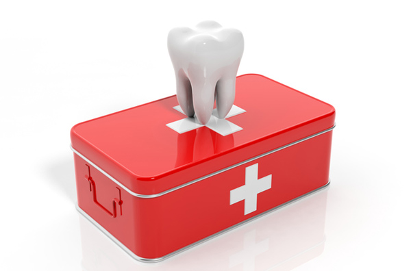 Rendering of a tooth on an emergency kit. Learn more about emergency dental services at Eastside Dental Clinic in Troutdale, OR